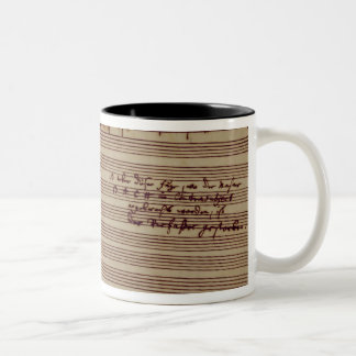 Last page of The Art of Fugue, 1740s Two-Tone Coffee Mug