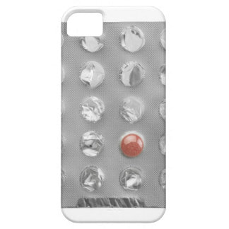 Last pill in blister pack, photographed on white iPhone 5 cases