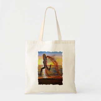 Last Rays of Fire Sunset Beach Fairy Tote Canvas Bags