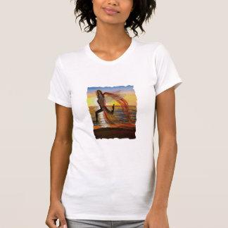 Last Rays of Fire Sunset Fairy women's t-shirt