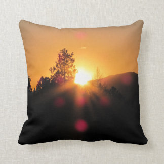 Last Rays of the Day Throw Pillow