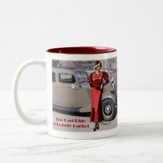 Last ride of Bonnie Parker Two-Tone Coffee Mug