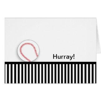 Last Round of Chemo Congratulations Card-Baseball Card