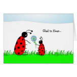 Last Round of Chemo Congratulations Card-Lady Bugs