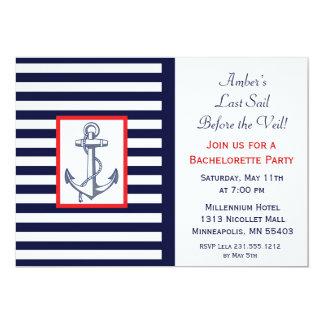 Last Sail Before the Veil Bachelorette Invitaiton 5x7 Paper Invitation Card