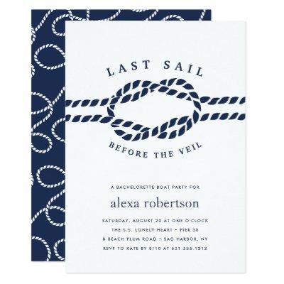 Nautical bachelorette party invite last sail invitation zazzle stopboris Gallery