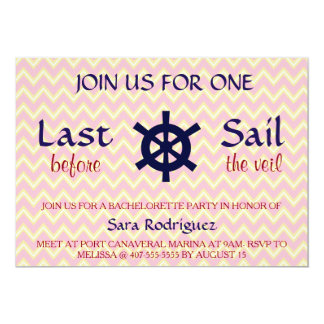 Last Sail Before The Veil Bachelorette Invitation