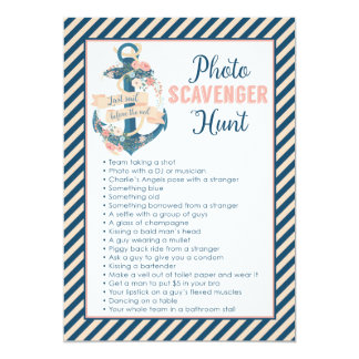 Last Sail Before the Veil Bachelorette Party Game Card