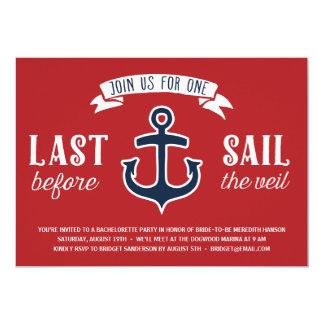 Last Sail | Nautical Bachelorette Party Card