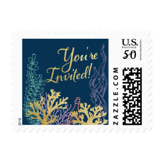 Last Splash Mermaid Bachelorette Stamp