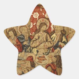 last-supper-78079cr pegatina en forma de estrella