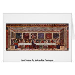 Last Supper By Andrea Del Castagno Greeting Card