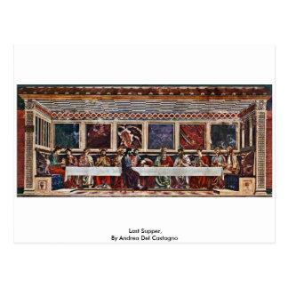 Last Supper By Andrea Del Castagno Postcards