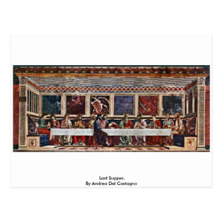 Last Supper, By Andrea Del Castagno Postcards