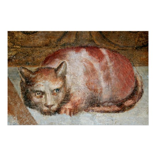 Last Supper Cat by Alessandro Allori Poster