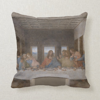 Last Supper - Da Vinci (1495-1498) Throw Pillow