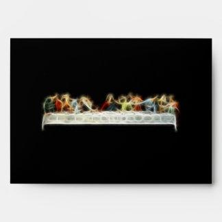 Last Supper da Vinci Jesus Fractal Painting Envelope