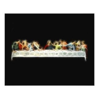 Last Supper da Vinci Jesus Fractal Painting Flyer
