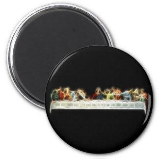 Last Supper da Vinci Jesus Fractal Painting Magnet