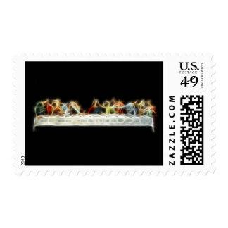 Last Supper da Vinci Jesus Fractal Painting Stamp