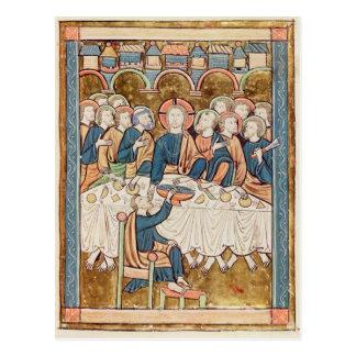 Last Supper, from 'Psautier a l'Usage de Paris Postcard