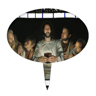 LAST SUPPER  JESUS CRIST CATHOLIC 03 CUSTOMIZABLE CAKE TOPPER
