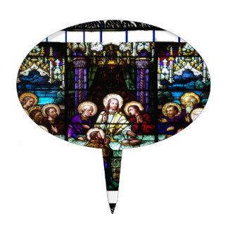 LAST SUPPER  JESUS CRIST CATHOLIC CUSTOMIZABLE PRO CAKE PICKS