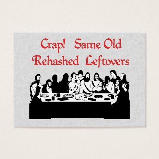 Last Supper Leftovers Business Card