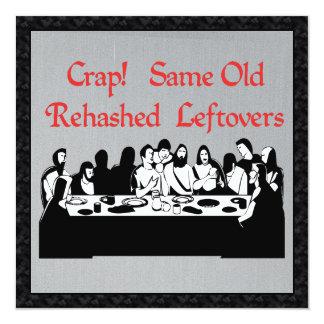 Last Supper Leftovers Invitation