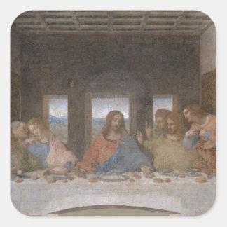 Last Supper  Leonardo da Vinci's late 1490s mural Square Stickers