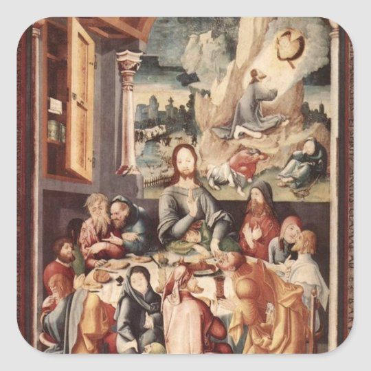 Last Supper Square Sticker
