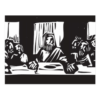 Last Supper Woodcut Postcards