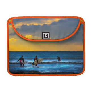 Last Surf Of The Day at Sunset MacBook Pro Sleeves