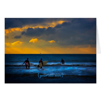 Last Surf Of The Day Greeting Card