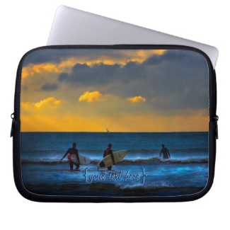 Last Surf Of The Day Computer Sleeve
