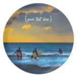 Last Surf Of The Day Party Plates