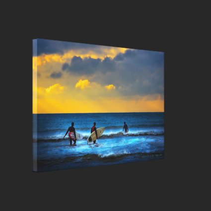 Last Surf Of The Day - wrapped canvas Gallery Wrap Canvas