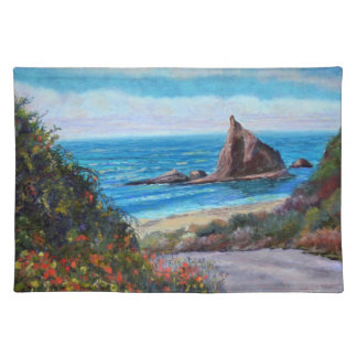 Last Turn at Martin's Beach Cloth Placemat