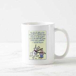 last unicorn strangled rainbow coffee mug