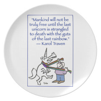 last unicorn strangled rainbow plate