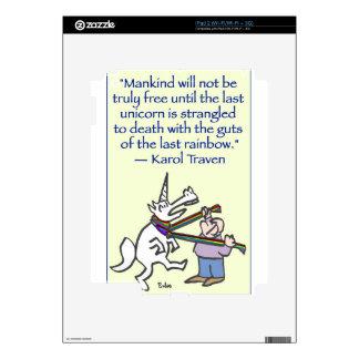 last unicorn strangled rainbow skin for iPad 2