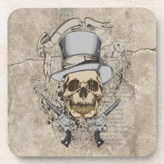 Last Word Skull & Guns Drink Coaster