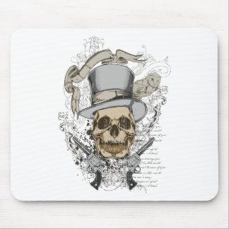 Last Word Skull & Guns Mousepad