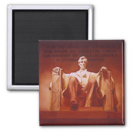 """Lasting Impression"" Lincoln Memorial Art Magnet"