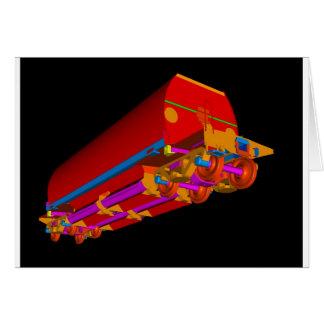 Lastre 3D-3 de YJ Tarjeta De Felicitación