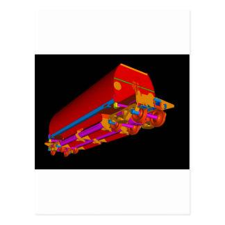 Lastre 3D-3 de YJ Tarjeta Postal