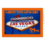 LasVegas_Sign, HAPPY 21ST BIRTHDAY, HAPPY 21ST ... Card
