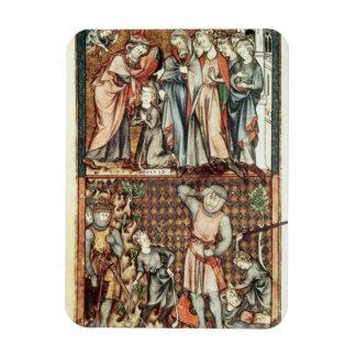 Lat 1023 f.7v David and Goliath con Saul de Le Be Imán Rectangular