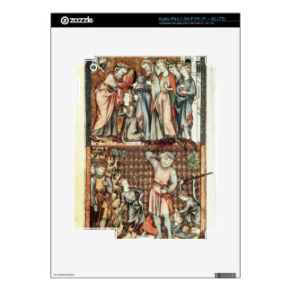 Lat 1023 f.7v David and Goliath with Saul by Le Be Skin For iPad 3