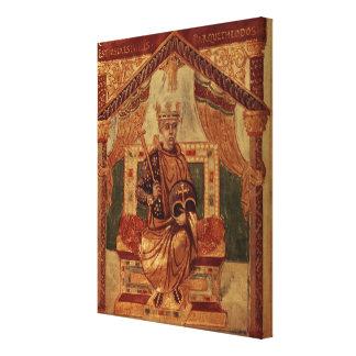 Lat 1152 f.3v Carlomagno (Carolus Magnus, Charles Impresión En Lona